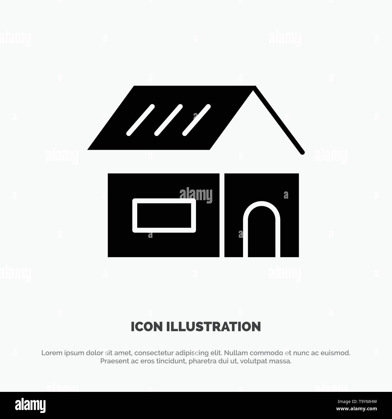 Building Build Construction Home Solid Glyph Icon Vector Stock Vector Image Art Alamy