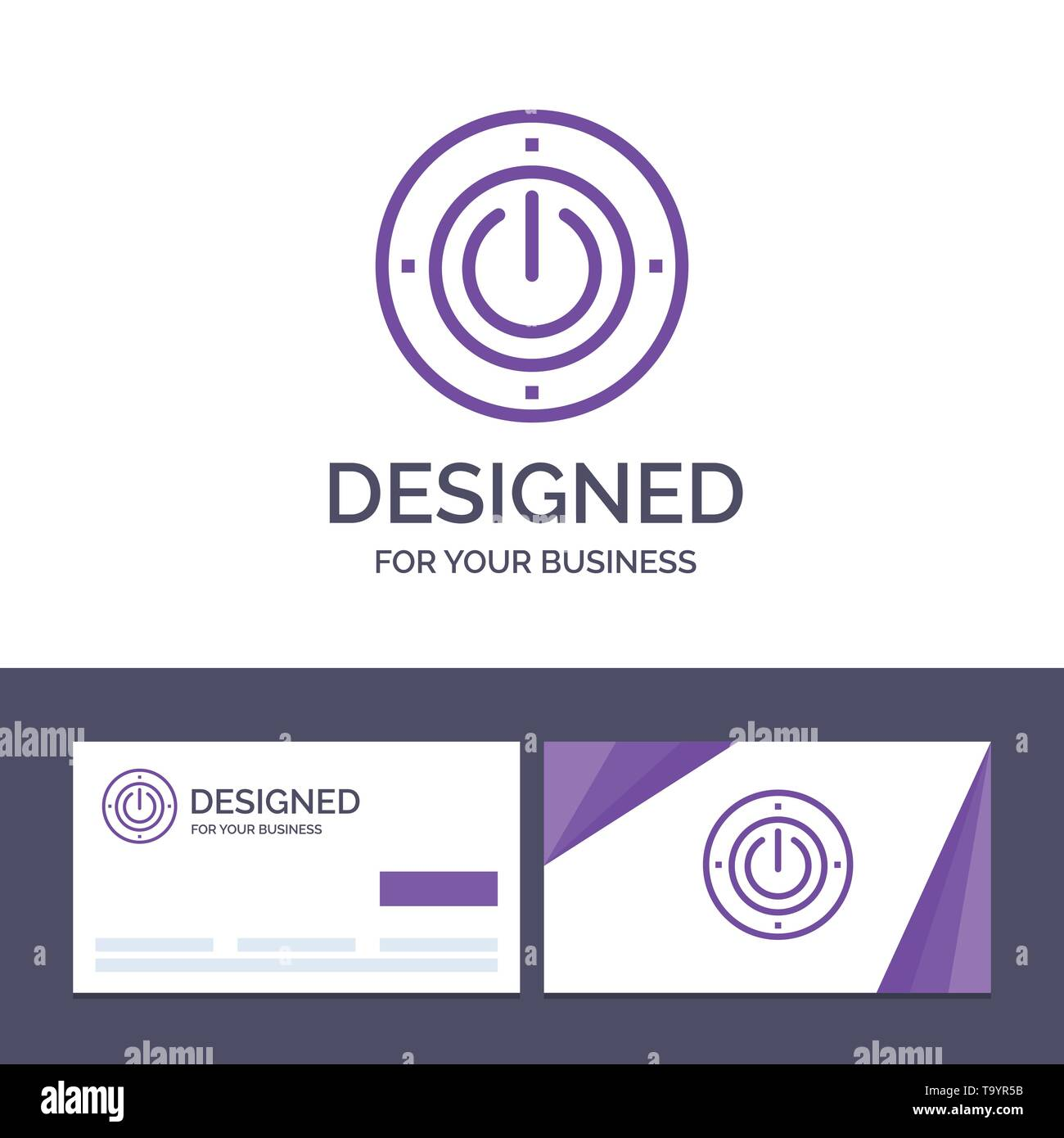 Creative Business Card and Logo template Electricity, Energy, Power, Computing Vector Illustration - Stock Image
