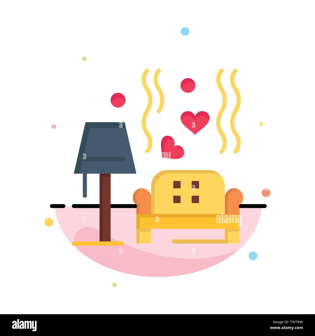 Lump, Sofa, Love, Heart, Wedding Business Logo Template. Flat Color - Stock Image