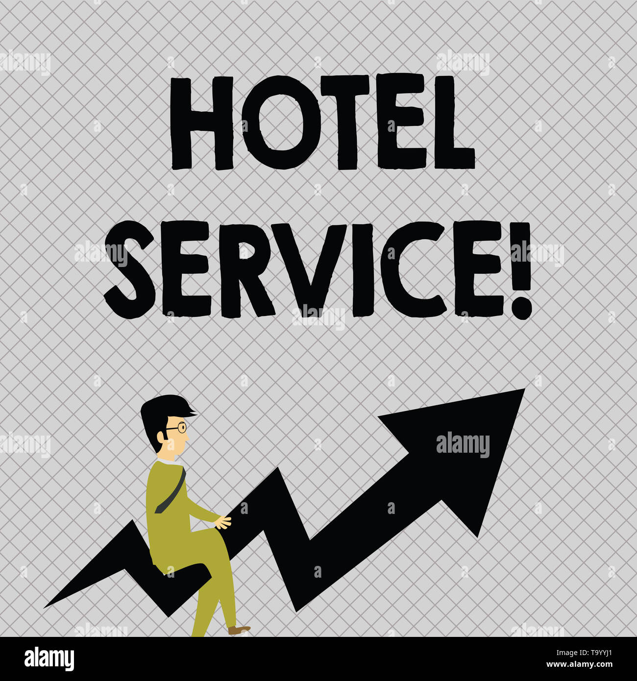 Conceptual hand writing showing Hotel Service. Concept meaning Providing guests warm accommodation and other services Businessman with Eyeglasses Ridi Stock Photo