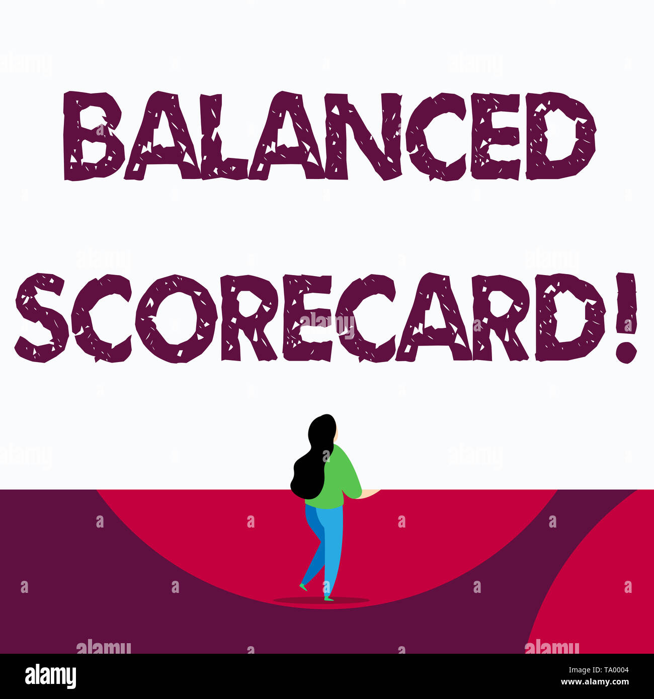 Text sign showing Balanced Scorecard. Business photo text a perforanalysisce metric used in strategic analysisagement - Stock Image