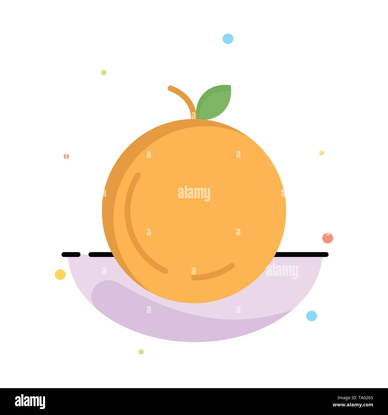 Apple, China, Chinese Abstract Flat Color Icon Template - Stock Image