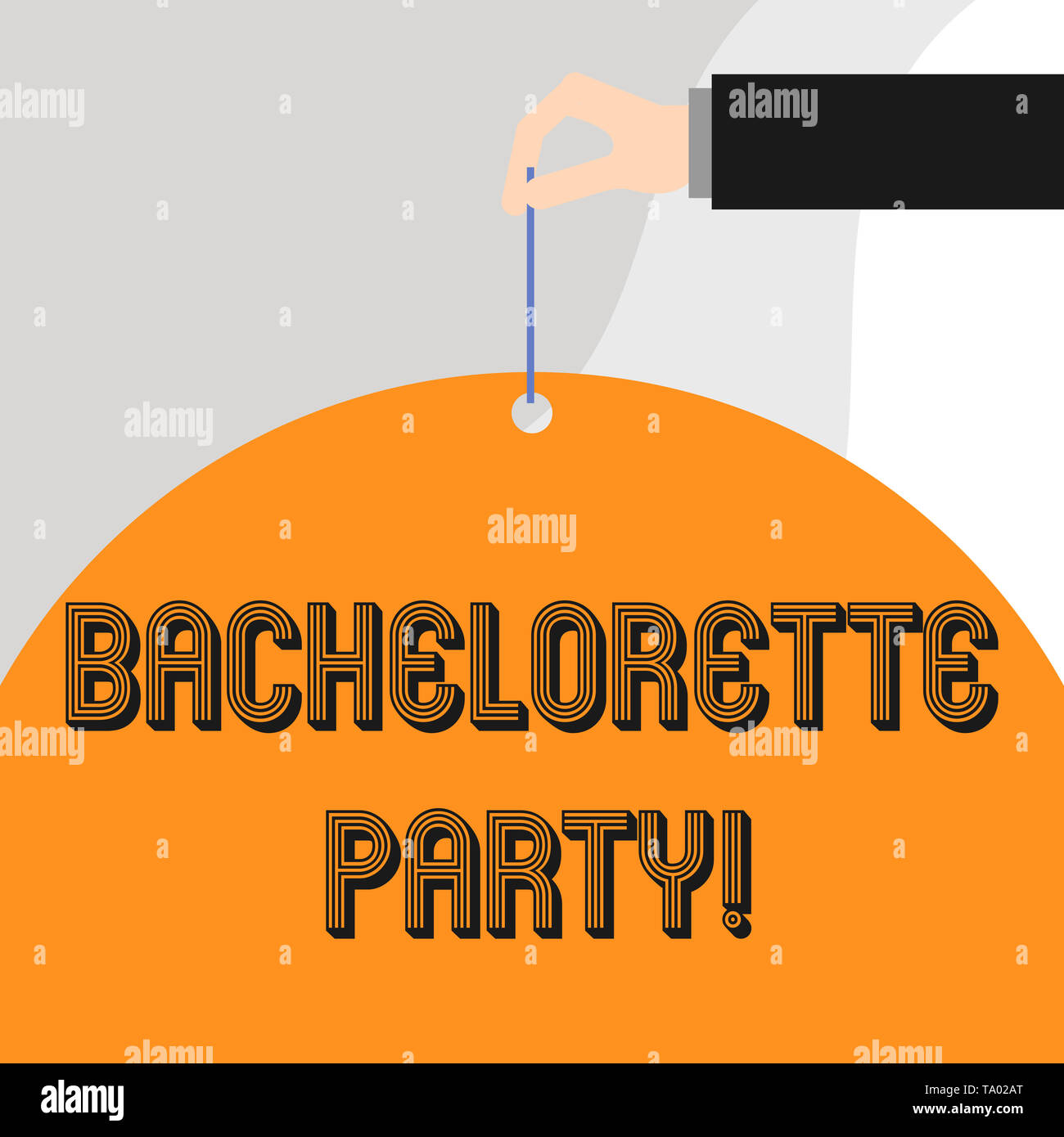 Text sign showing Bachelorette Party. Business photo showcasing a party given for a woanalysis who is about to get married - Stock Image