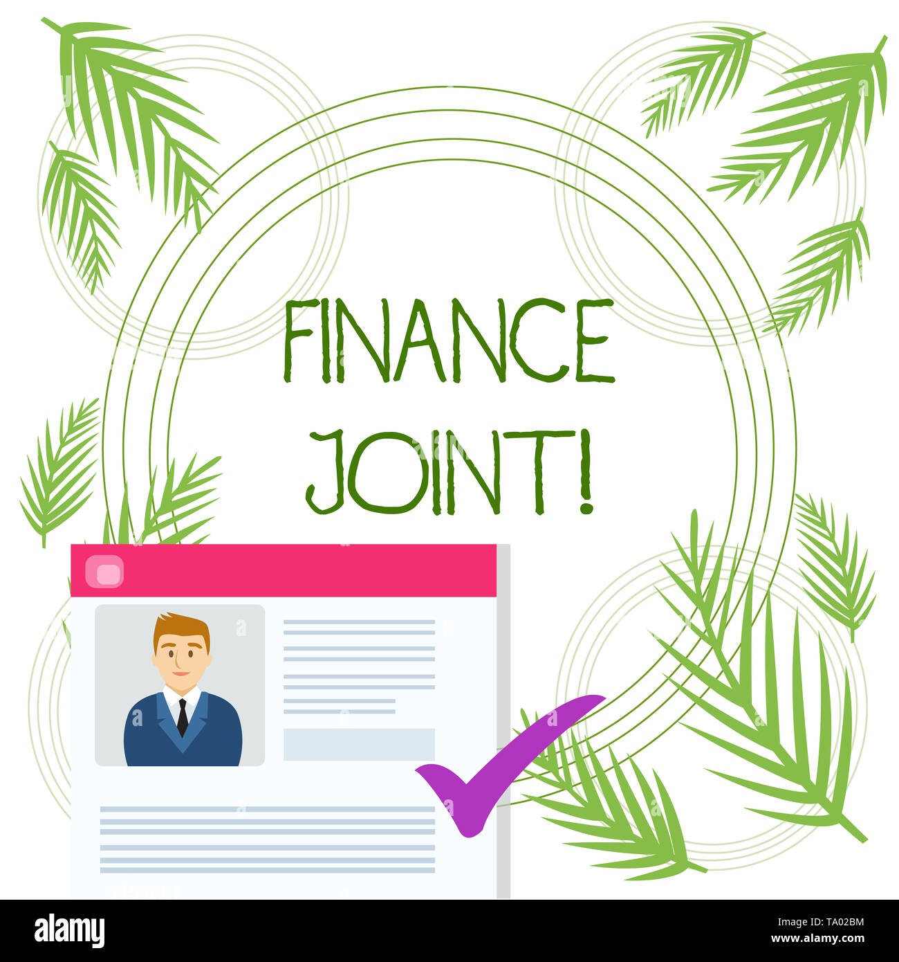 Conceptual hand writing showing Finance Joint. Concept meaning provision of funds for a project came from two or more sources Curriculum Vitae Resume  - Stock Image