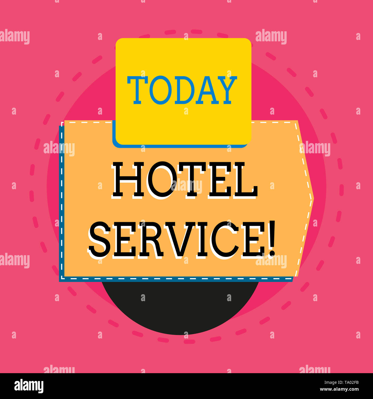 Word writing text Hotel Service. Business photo showcasing Providing guests warm accommodation and other services Electronic device with non symmetric - Stock Image