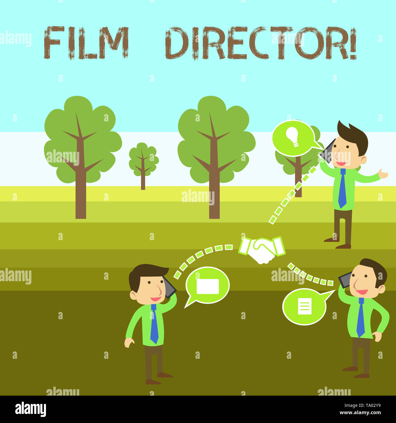 Conceptual hand writing showing Film Director. Concept meaning a demonstrating who is in charge of making and directing a film Businessmen Coworker Co - Stock Image