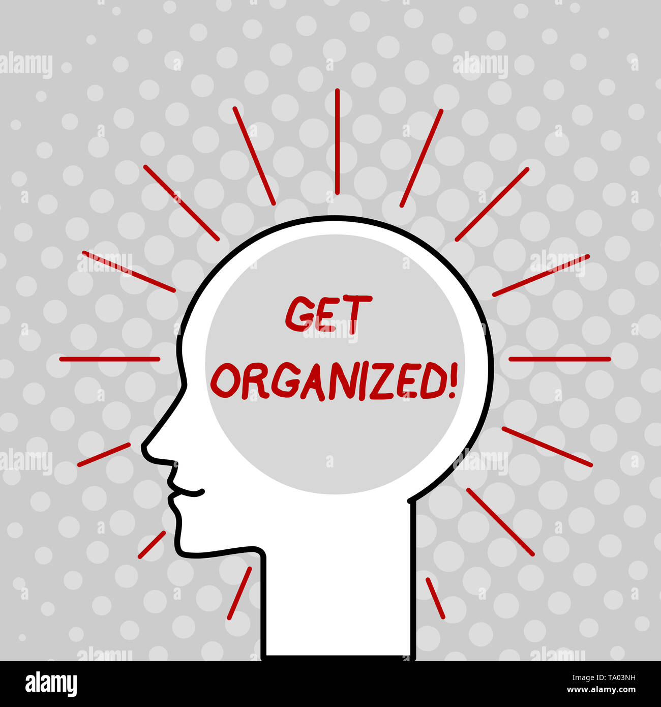 Writing note showing Get Organized  Business concept for