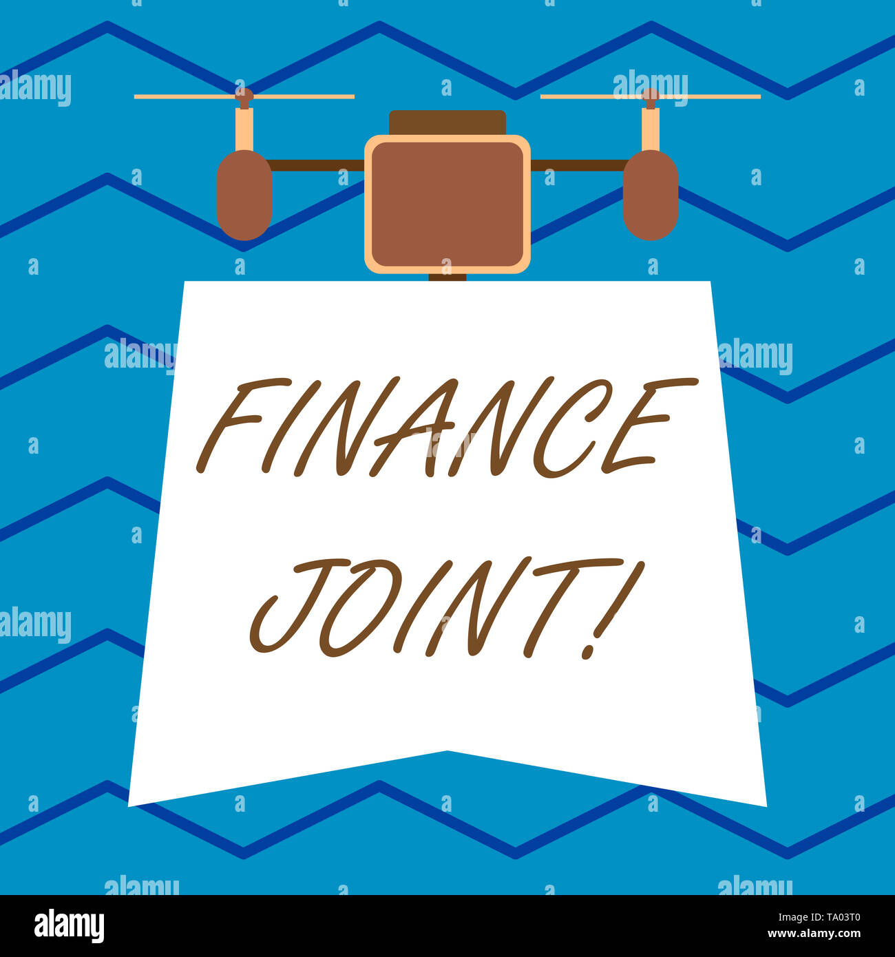Text sign showing Finance Joint. Business photo text provision of funds for a project came from two or more sources Modern unique design of night lamp - Stock Image