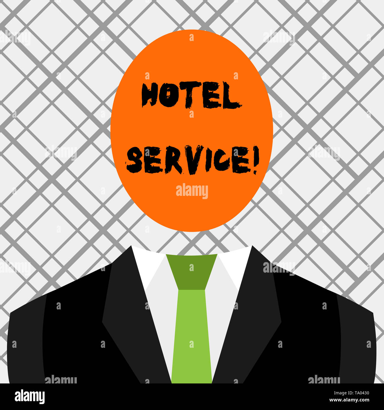 Conceptual hand writing showing Hotel Service. Concept meaning Providing guests warm accommodation and other services Symbolic Drawing Figure of Man F - Stock Image