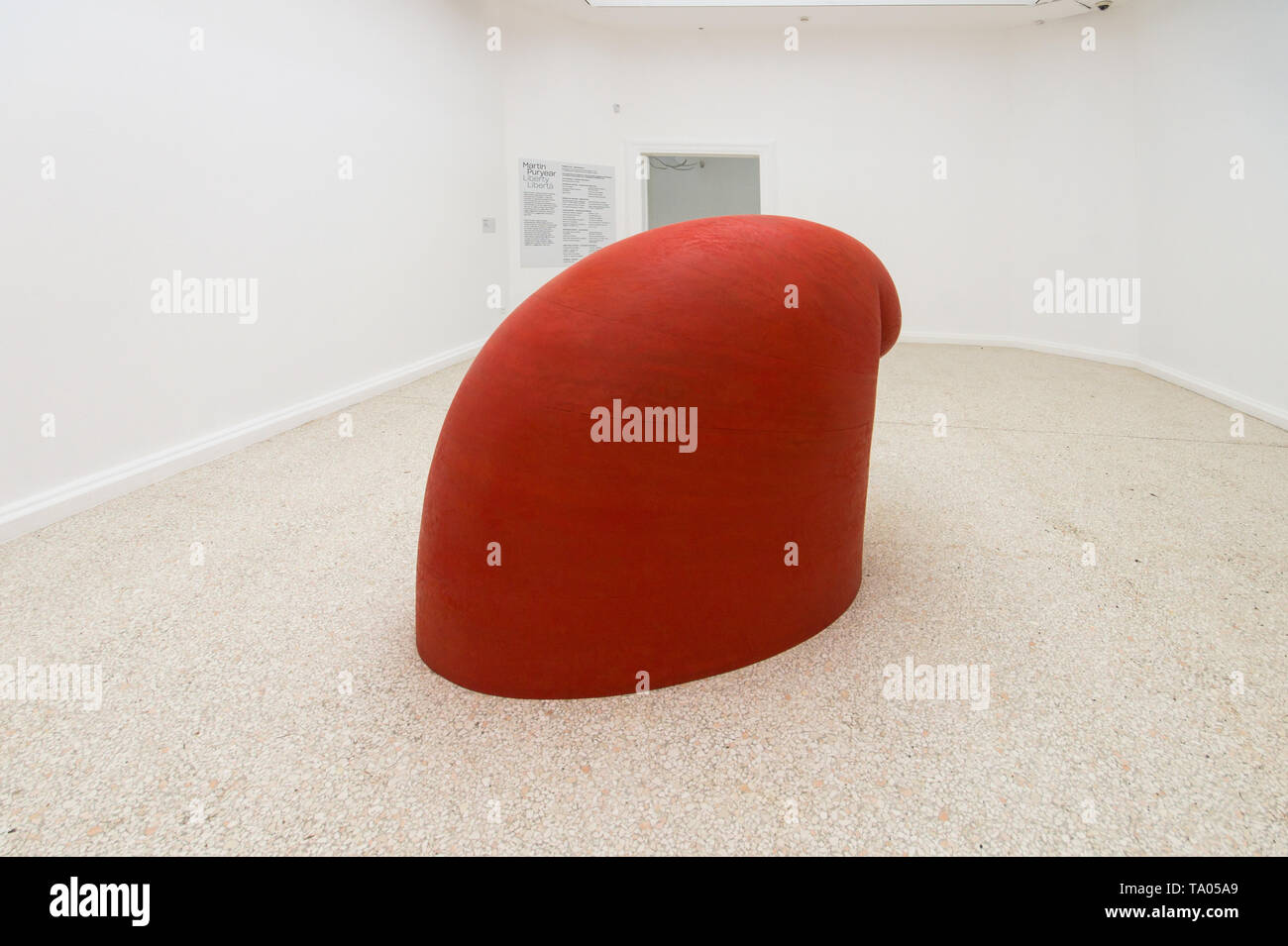 Martin Puryear, Big Phrygian, 2010, sculpture, Liberty / Libertà exhibition, United States Pavilion, 58th Venice Art Biennale 2019 - Stock Image