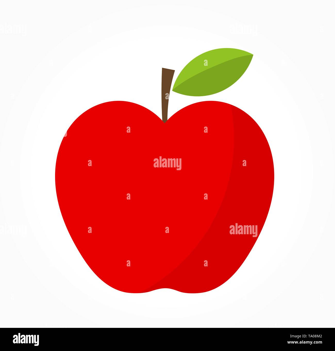 Red apple. Vector illustration - Stock Image