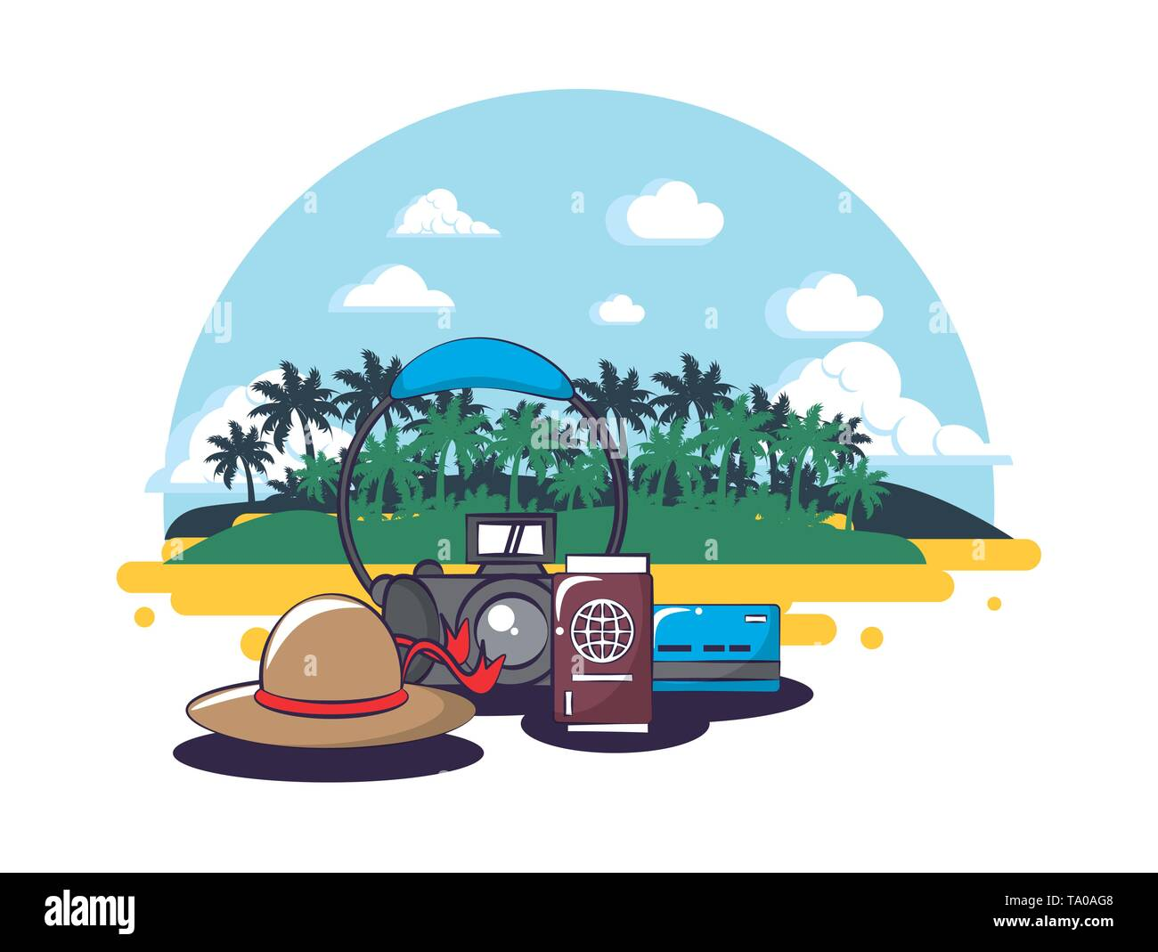 Beach and summer - Stock Image