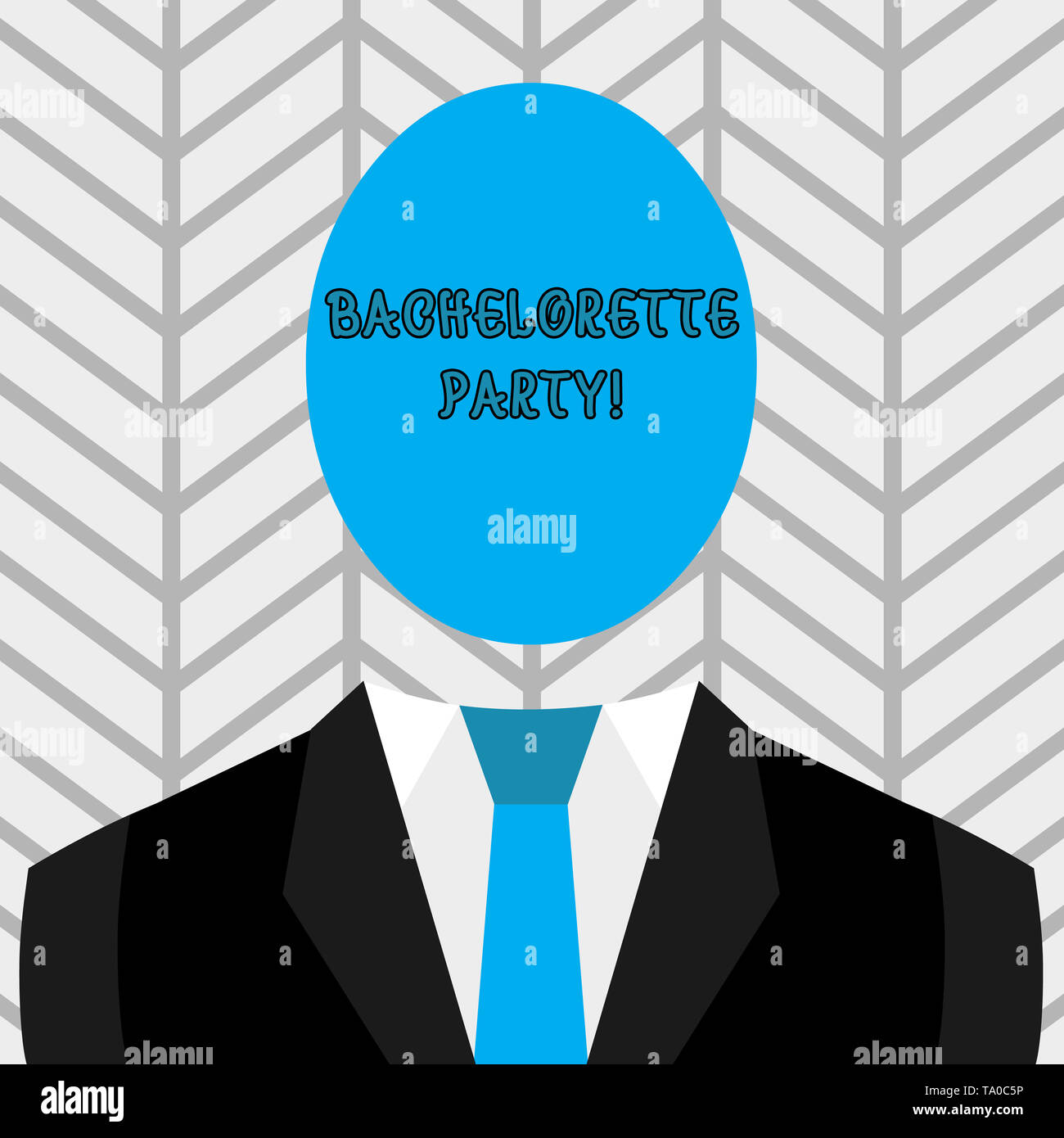 Text sign showing Bachelorette Party. Business photo text a party given for a woanalysis who is about to get married Symbolic Drawing Emblematic Figur - Stock Image