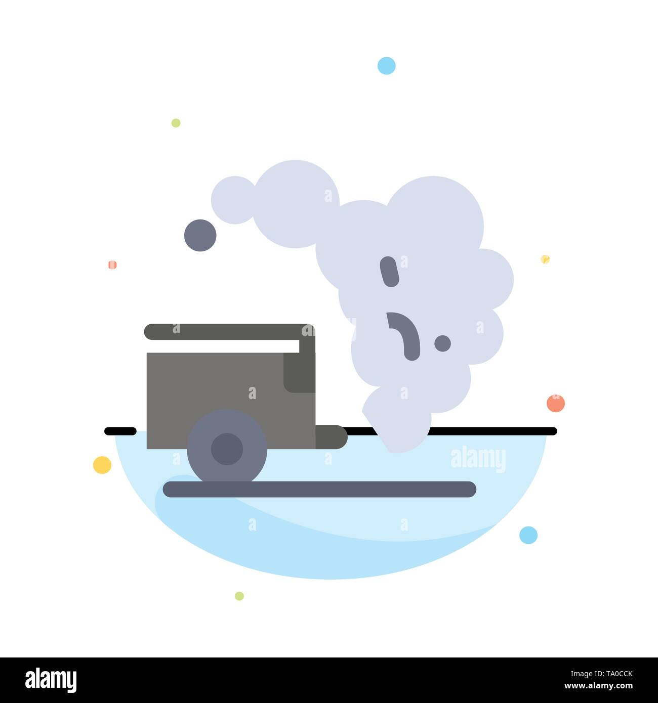 Dump, Environment, Garbage, Pollution Abstract Flat Color Icon Template - Stock Image