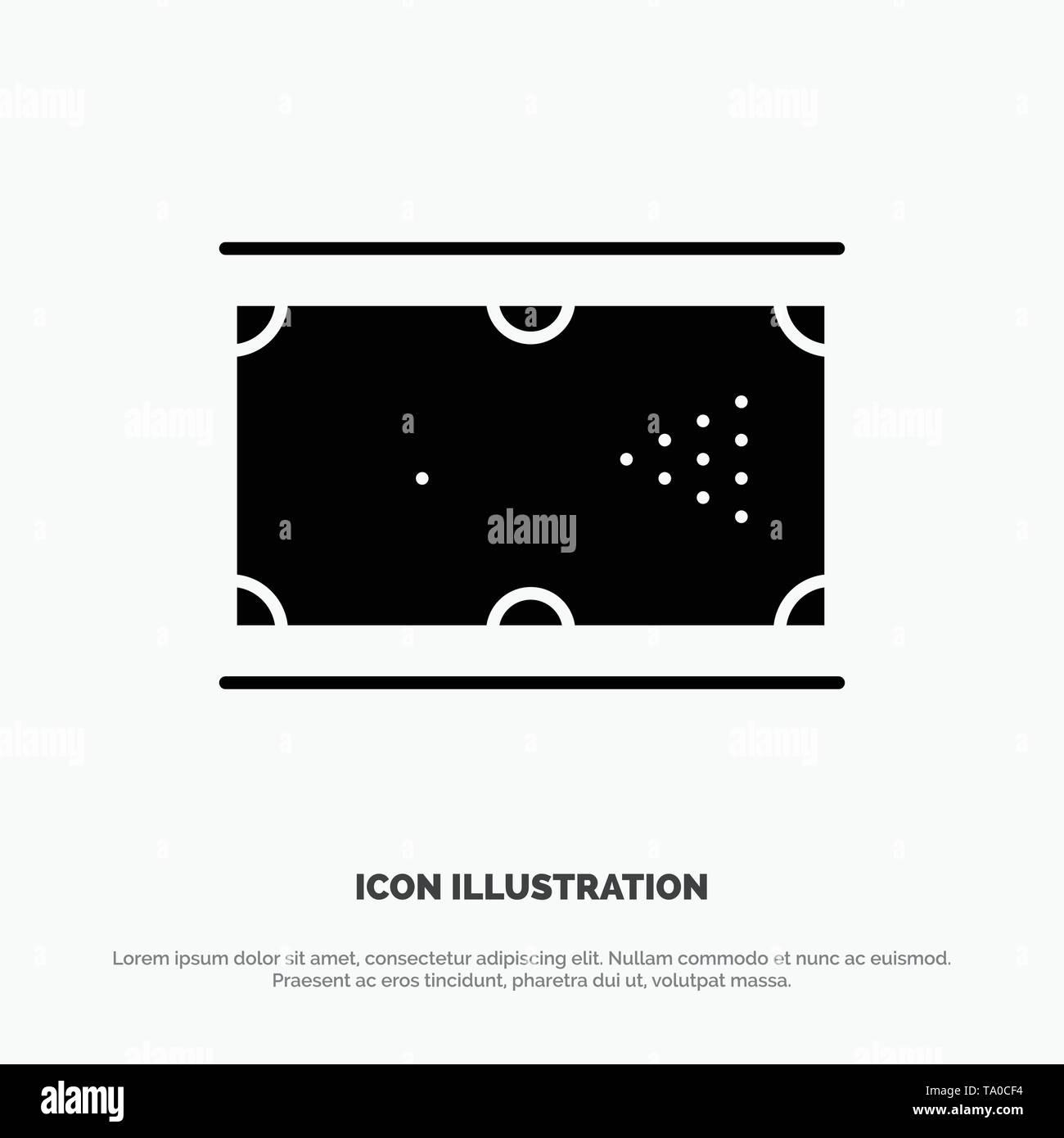 Billiards, Cue, Game, Pocket, Pool solid Glyph Icon vector - Stock Vector