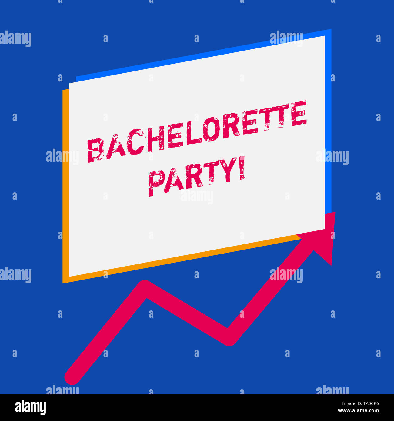 Word writing text Bachelorette Party. Business photo showcasing a party given for a woanalysis who is about to get married - Stock Image