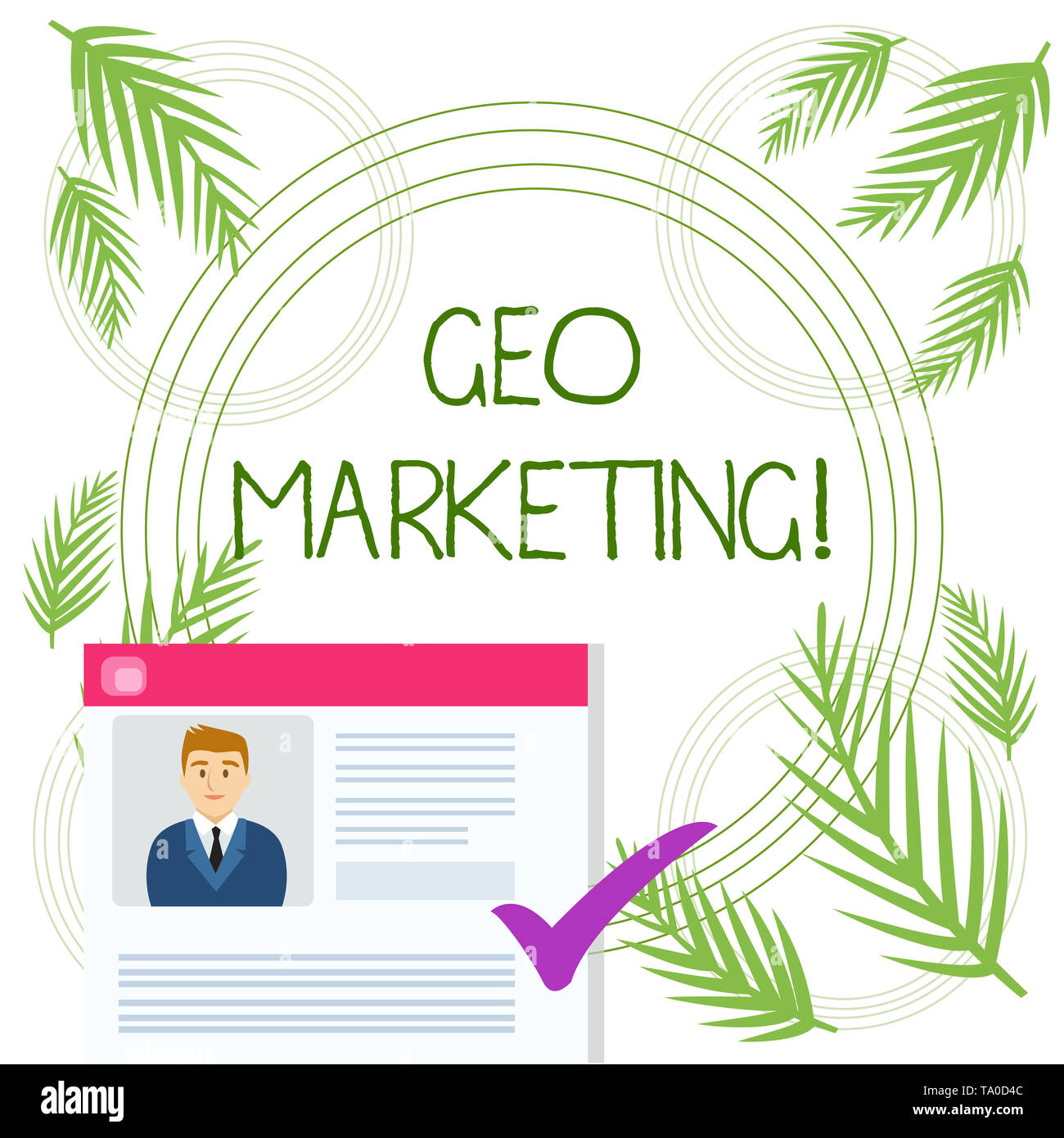 Conceptual hand writing showing Geo Marketing. Concept meaning the geolocated marketing techniques to get new clients Curriculum Vitae Resume of Candi Stock Photo