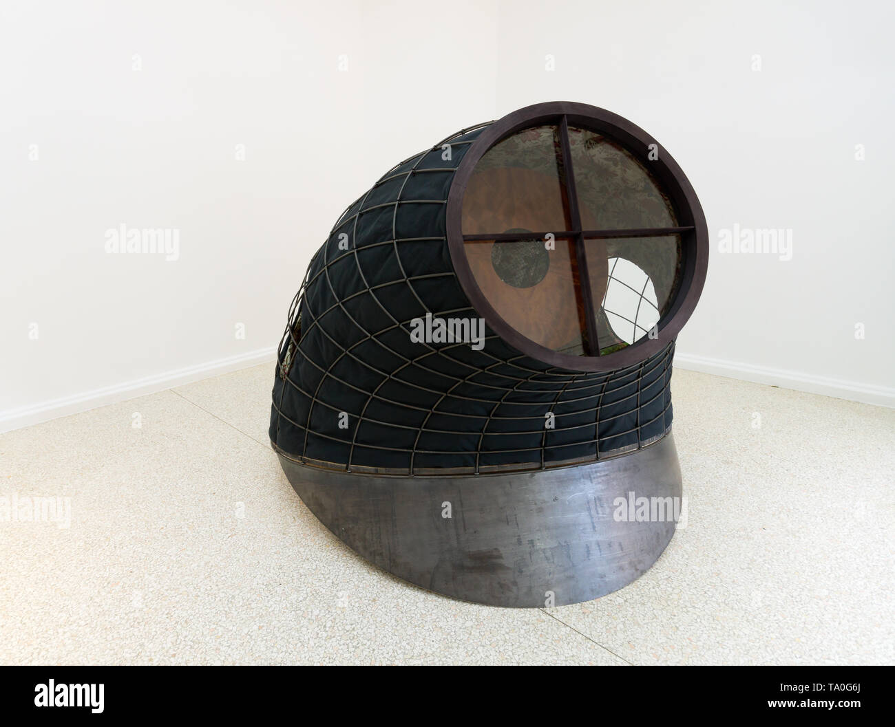 Martin Puryear, Tabernacle, 2019, sculpture, Liberty / Libertà exhibition, United States Pavilion, 58th Venice Art Biennale 2019 - Stock Image
