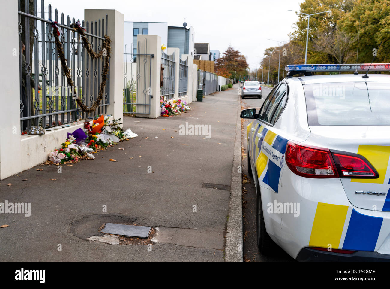 Police Memorial Flowers Wreath Stock Photos & Police Memorial