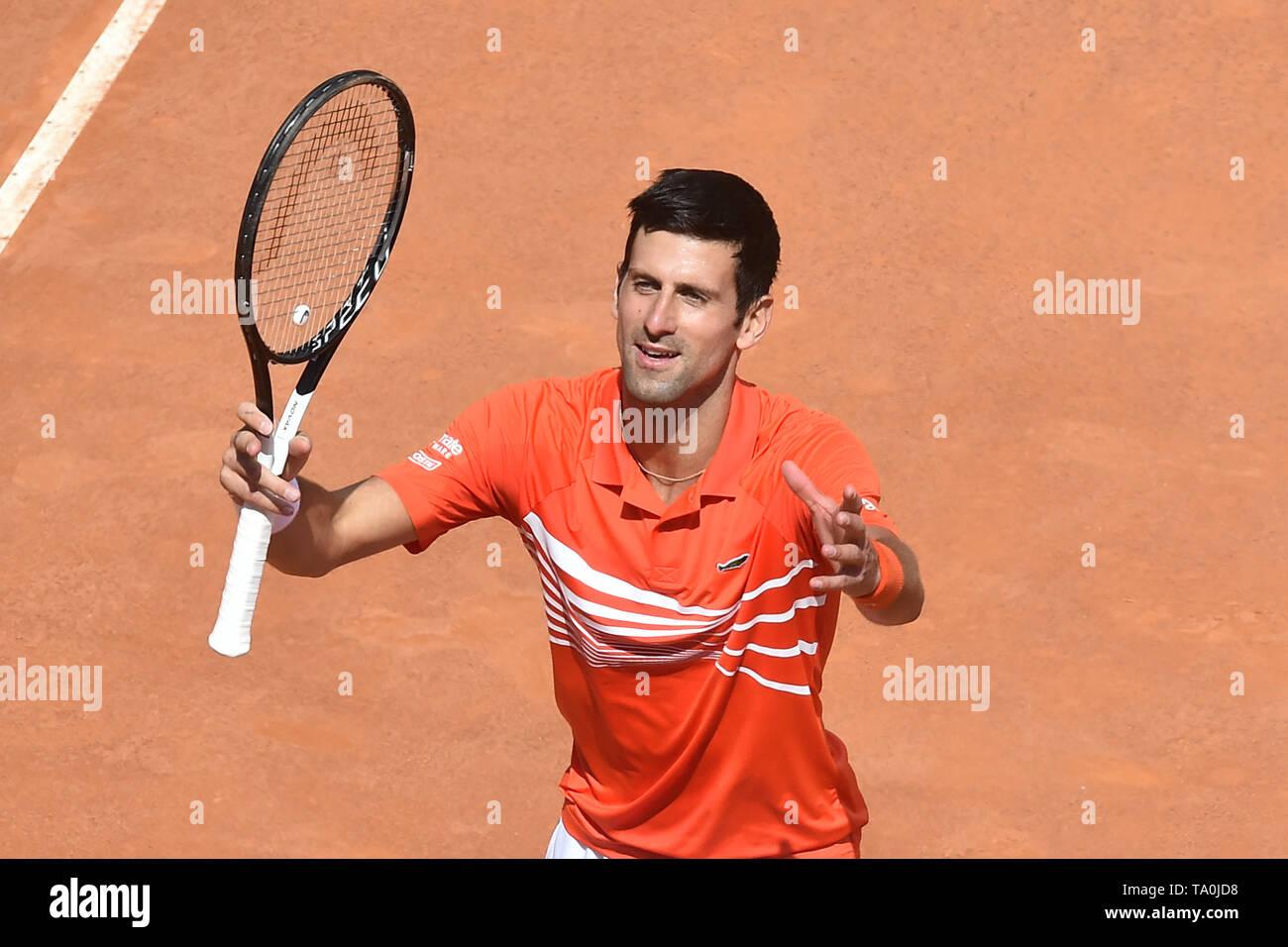 Novak Djokovic of Serbia  in action during the match against Denis Shapovalov of Canada. Roma 16-05-2018 Foro Italico   Internazionali BNL D'Italia It - Stock Image