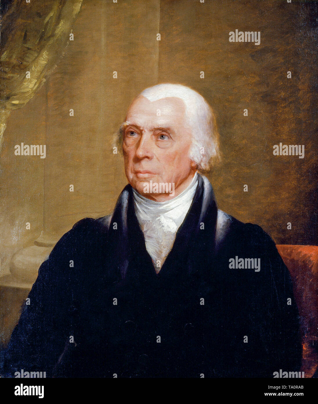 James Madison, portrait painting by Chester Harding c. 1829 - Stock Image