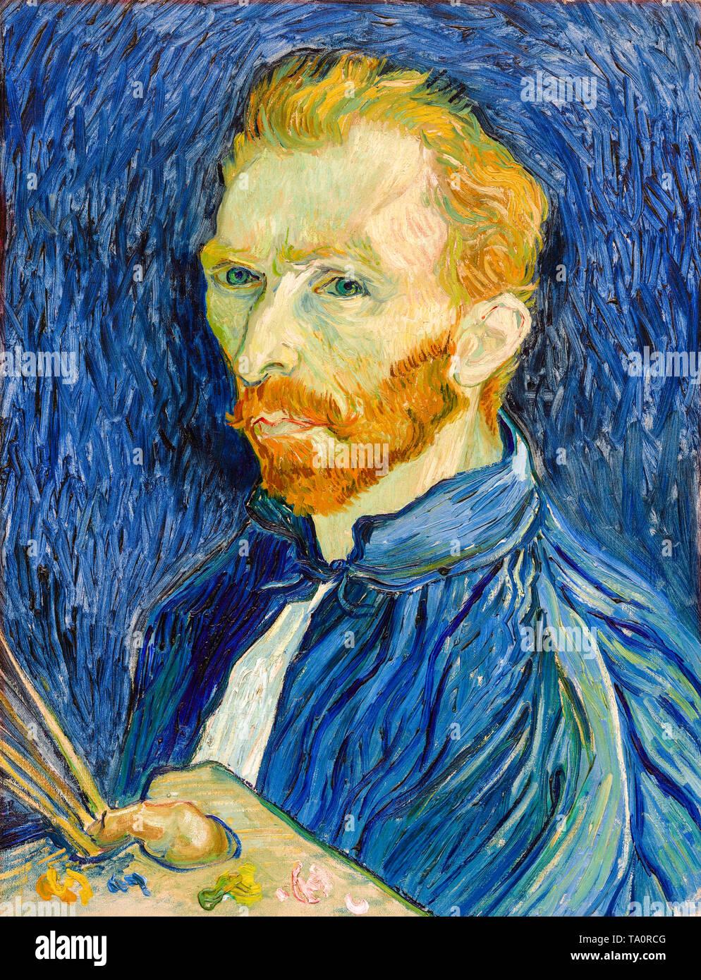 Self Portrait of Vincent van Gogh, 1889 - Stock Image