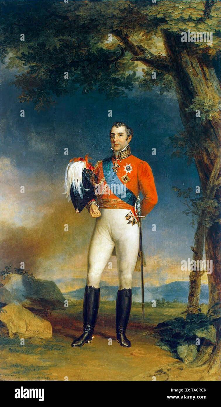 Portrait painting of the Duke of Wellington by George Dawe, 1829 - Stock Image