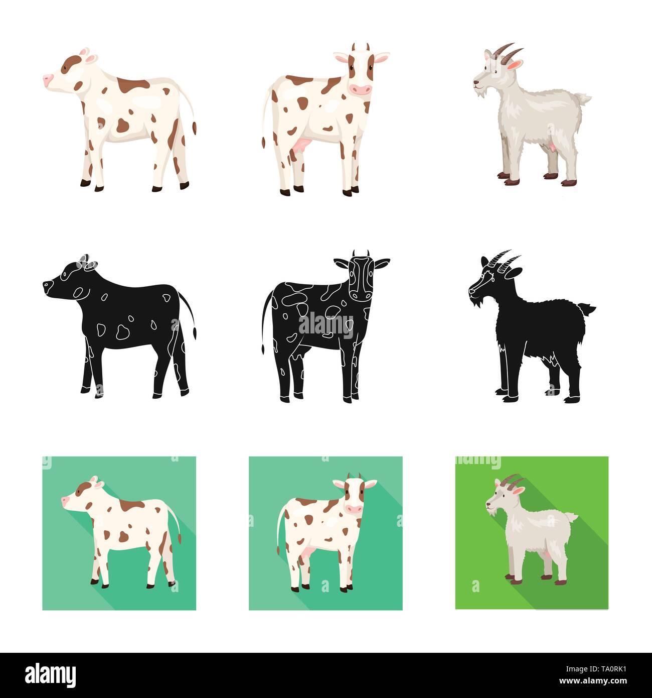 Isolated object of breeding and kitchen  symbol. Collection of breeding and organic  stock symbol for web. - Stock Image
