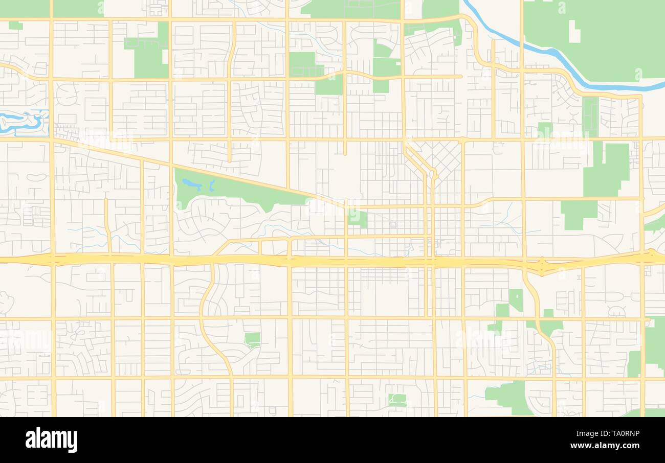 Map Of California Visalia.Empty Vector Map Of Visalia California Usa Printable Road Map