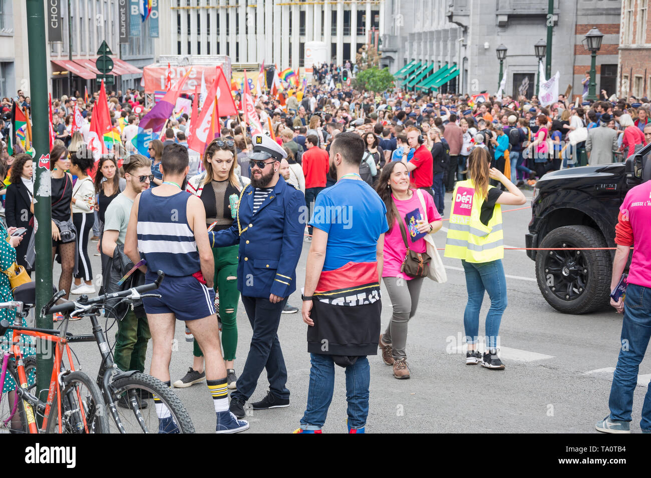The Belgian Pride 2019 - gay Pride festival / LGBT event, Brussels - Stock Image