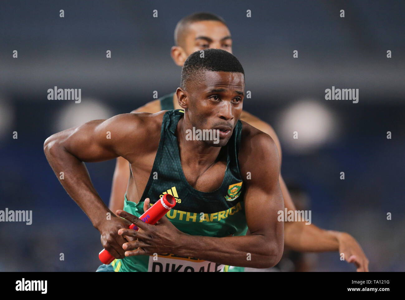 YOKOHAMA, JAPAN - MAY 11: Ranti Dikgale of South Africa during day 1 of the IAAF World Relays at Nissan Stadium on May 11, 2019 in Yokohama, Japan. (Photo by Roger Sedres/Gallo Images) - Stock Image