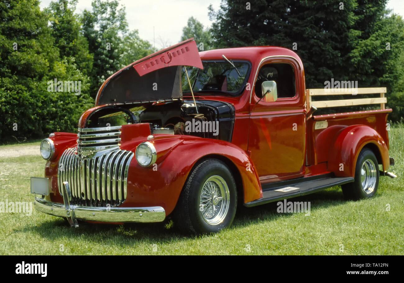 1946 Custom Chevrolet Pickup Truck Stock Photo