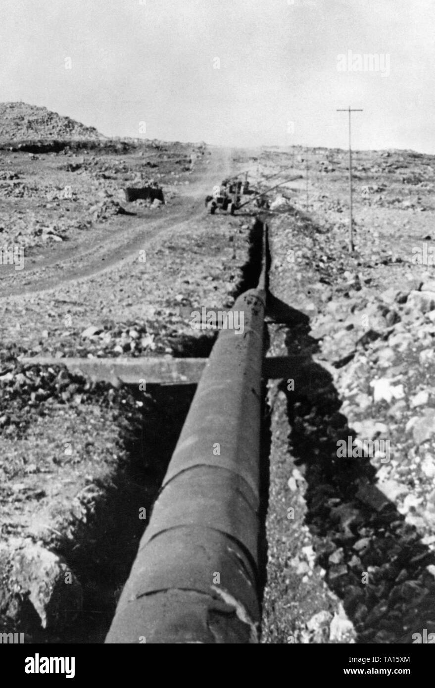 A pipeline for Iraqi oil pumped to Haifa and from there