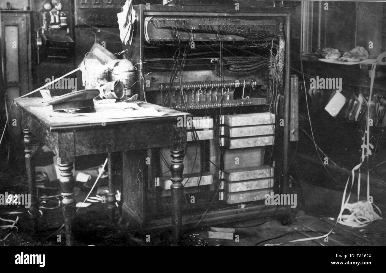 9dd5a87234f In the telegraph room of the train station, French occupation soldiers  destroyed the telephone exchange