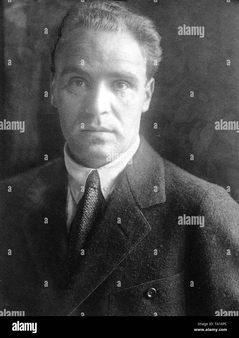 Portrait of Kasimir Edschmid, German writer. Undated photo, probably from the 1920s. Stock Photo