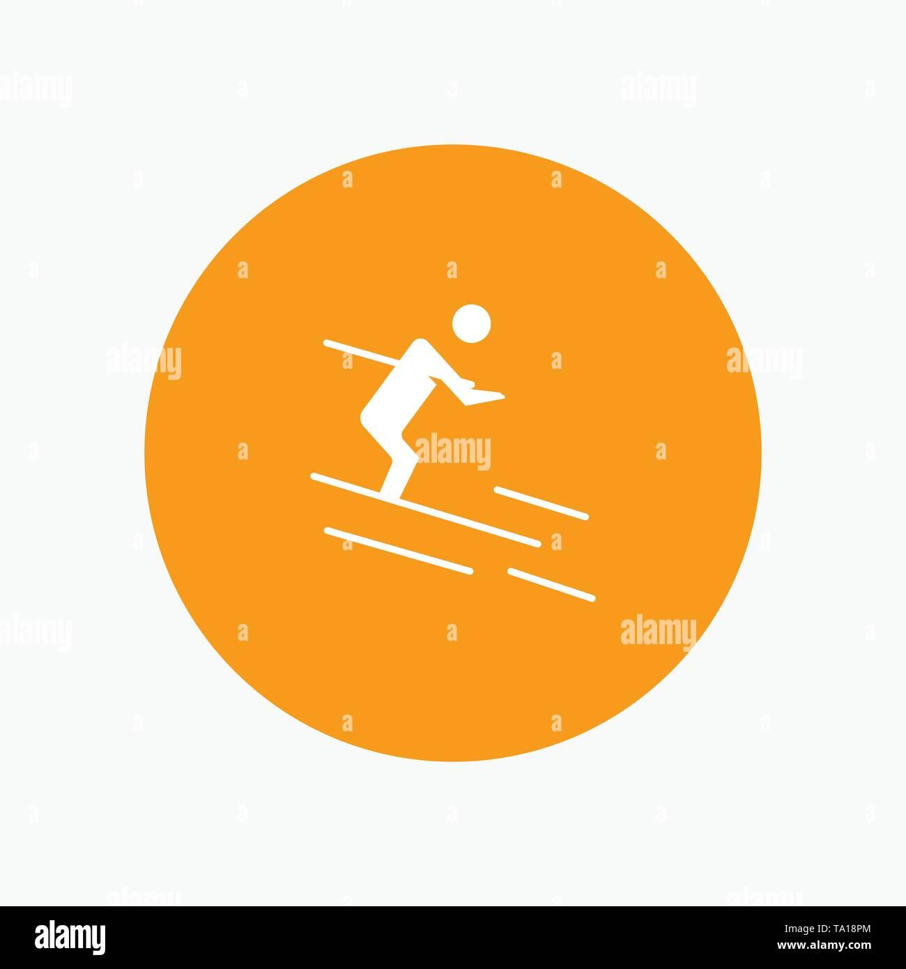 Activity, Ski, Skiing, Sportsman - Stock Image