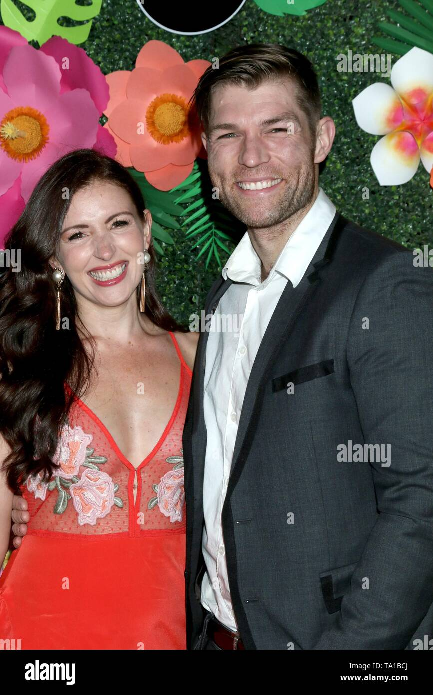 Erin Hasan, Liam McIntyre at arrivals for Lifetime's Summer Luau, W Los Angeles Wet Deck, Los Angeles, CA May 20, 2019. Photo By: Priscilla Grant/Everett Collection - Stock Image