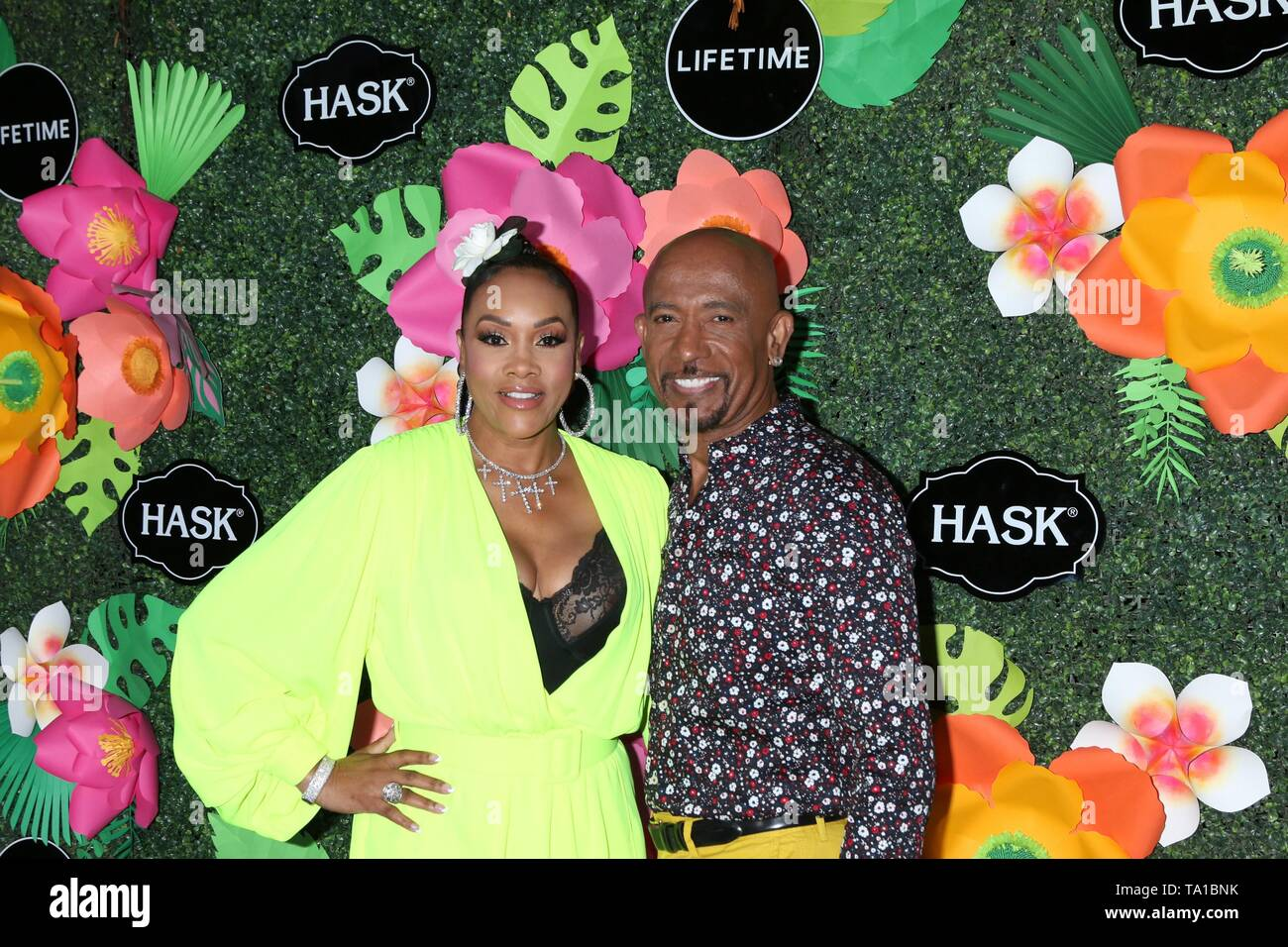 Los Angeles, CA, USA. 20th May, 2019. Vivica A Fox, Montel Williams at arrivals for Lifetime's Summer Luau, W Los Angeles Wet Deck, Los Angeles, CA May 20, 2019. Credit: Priscilla Grant/Everett Collection/Alamy Live News - Stock Image