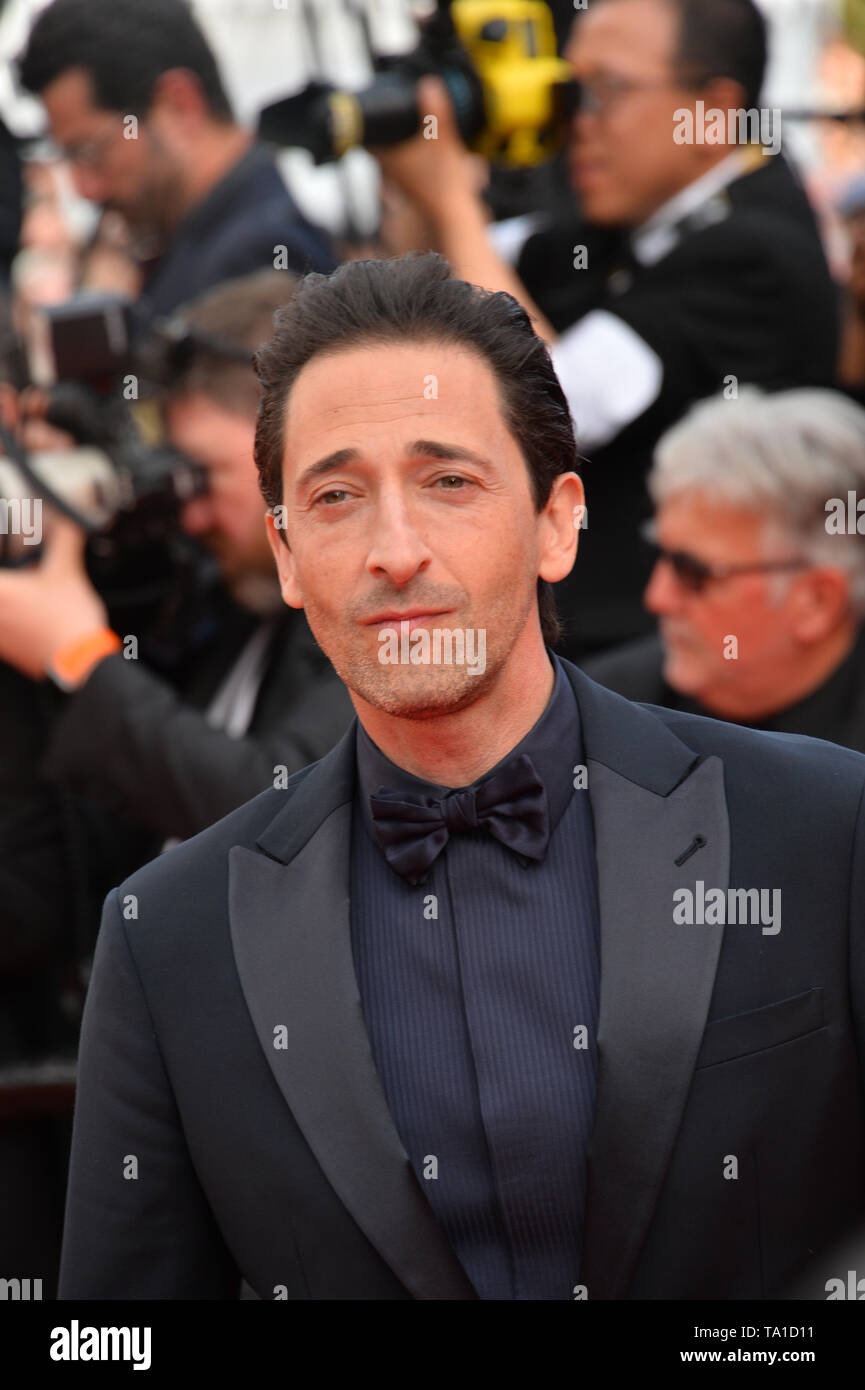 Cannes, France. 21st May, 2019. CANNES, FRANCE. May 21, 2019: Adrien Brody at the gala premiere for 'Once Upon a Time in Hollywood' at the Festival de Cannes. Picture Credit: Paul Smith/Alamy Live News - Stock Image