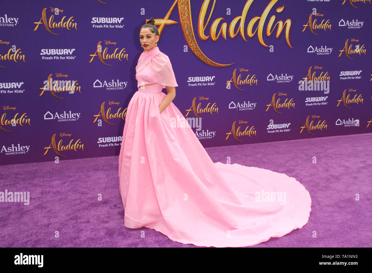 Los Angeles, USA. 21st May, 2019. Naomi Scott at The World Premiere of Disney's 'Aladdin' held at El Capitan Theatre, Hollywood, CA, May 21, 2019. Photo Credit: Joseph Martinez/PictureLux Credit: PictureLux / The Hollywood Archive/Alamy Live News - Stock Image