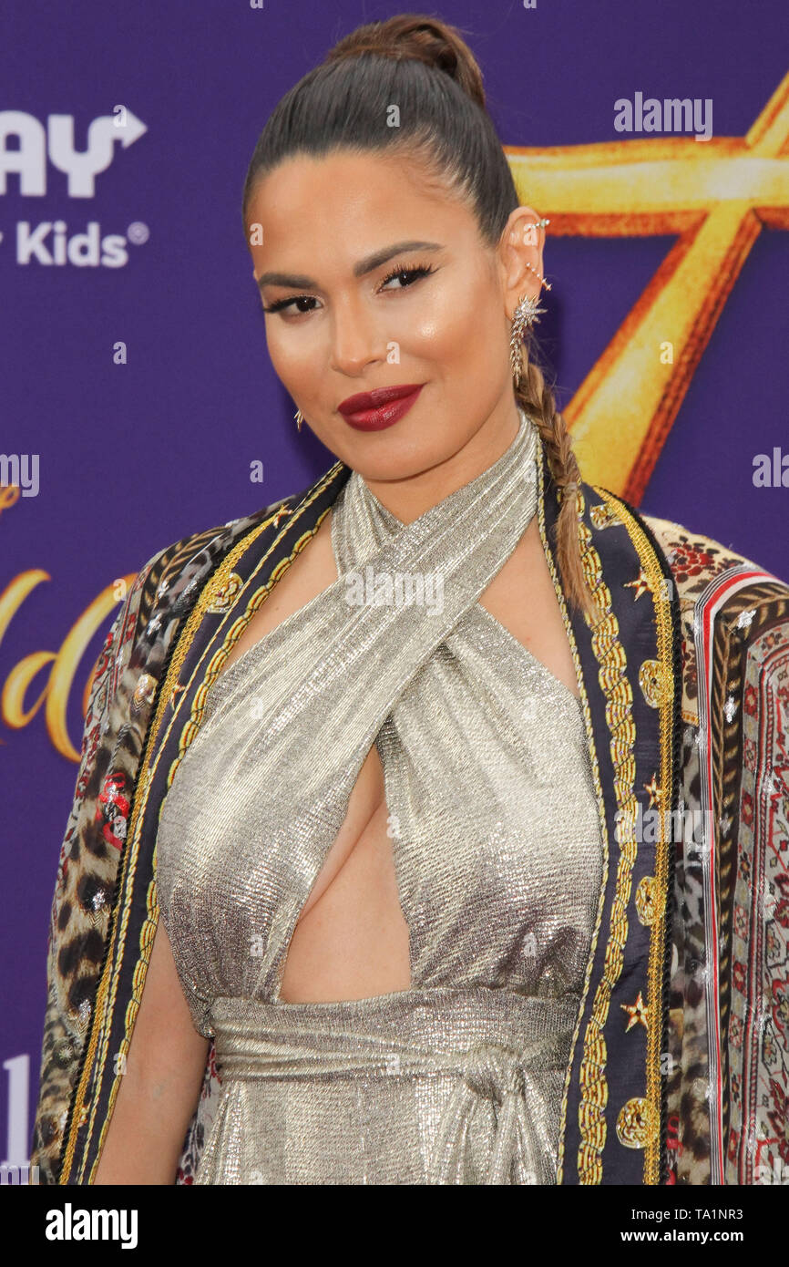Los Angeles, USA. 21st May, 2019. Nadine Velasquez at The World Premiere of Disney's 'Aladdin' held at El Capitan Theatre, Hollywood, CA, May 21, 2019. Photo Credit: Joseph Martinez/PictureLux Credit: PictureLux / The Hollywood Archive/Alamy Live News - Stock Image