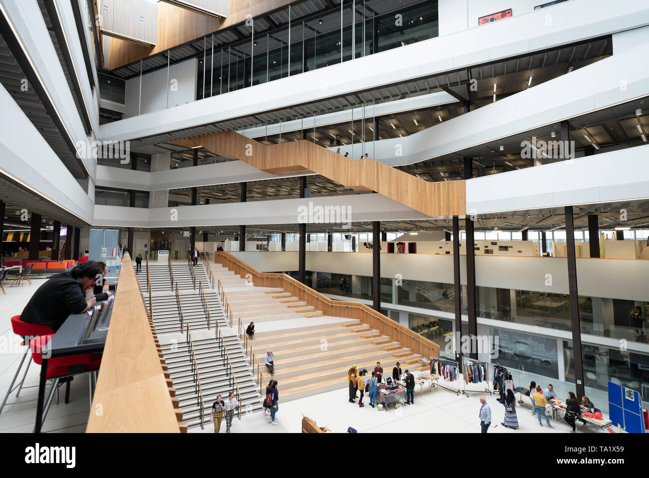 Interior of the  modern City of Glasgow College in centre of Glasgow, Scotland, UK - Stock Image