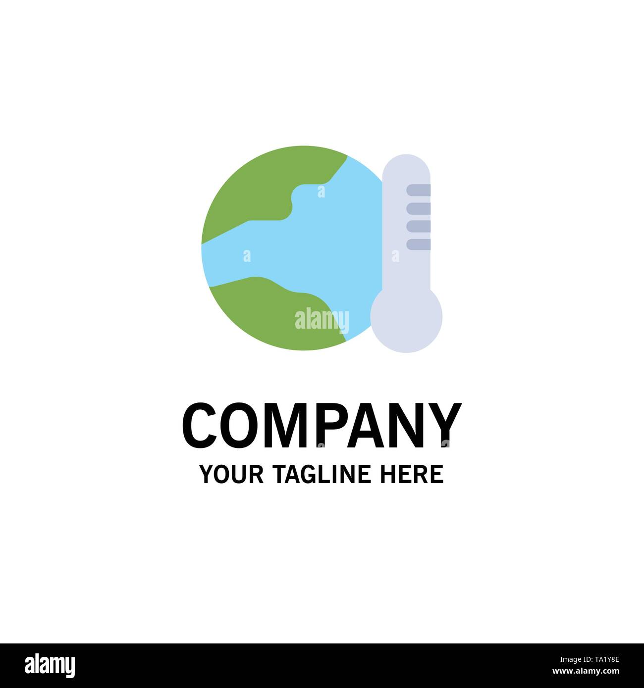 Earth, Environment, Global, Hot, Temperature Business Logo Template. Flat Color - Stock Image