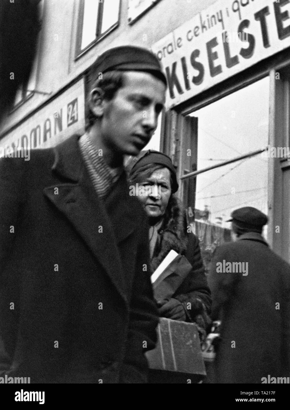 A young Jewish man in the Polish city of Lublin. - Stock Image