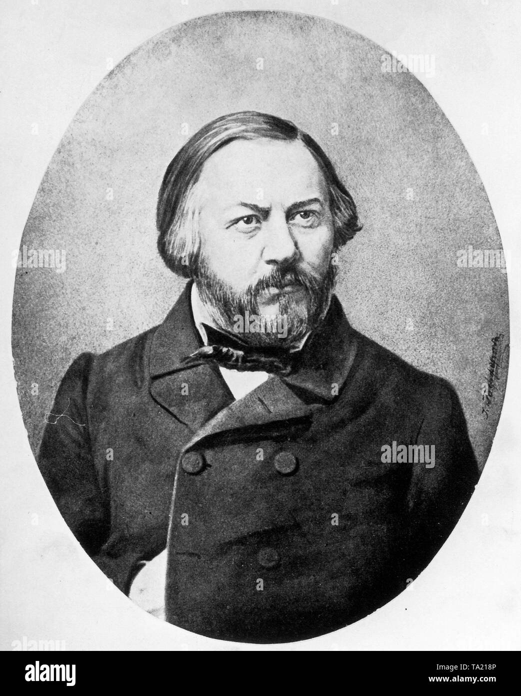 Portrait of Russian composer Mikhail Glinka (1804-1857) - Stock Image