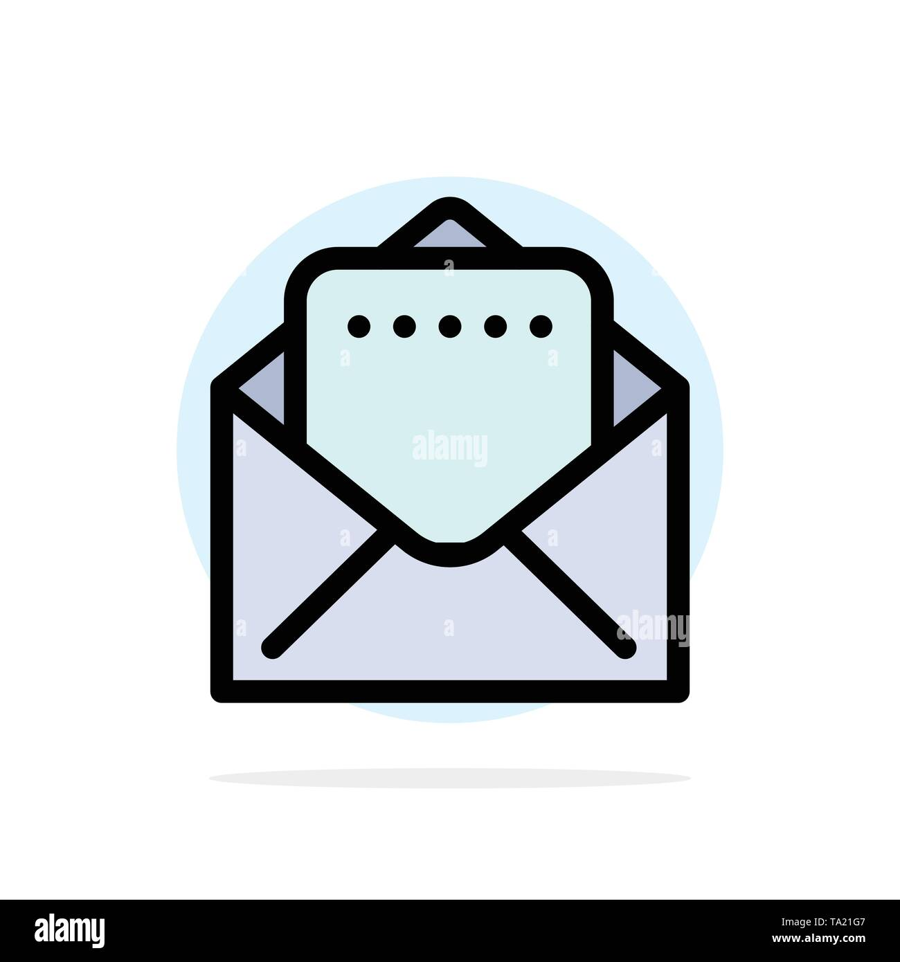 Document, Mail Abstract Circle Background Flat color Icon - Stock Image