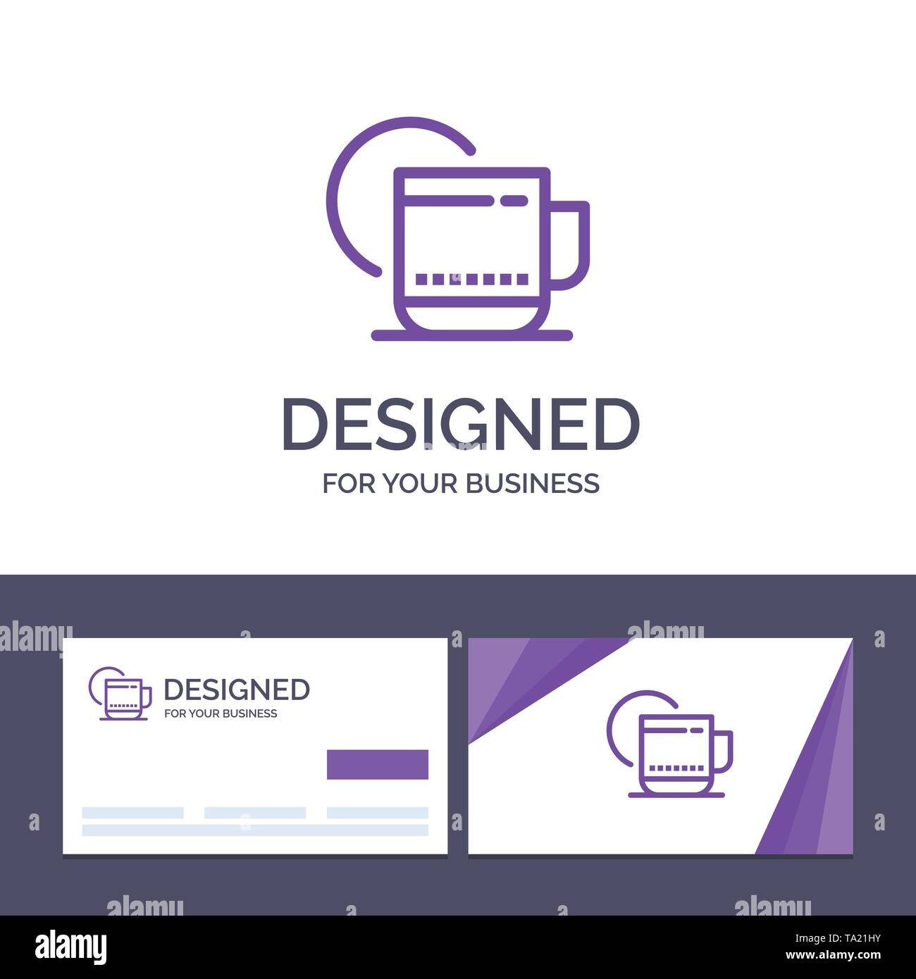 Creative Business Card and Logo template Tea, Hot, Hotel, Service Vector Illustration - Stock Image