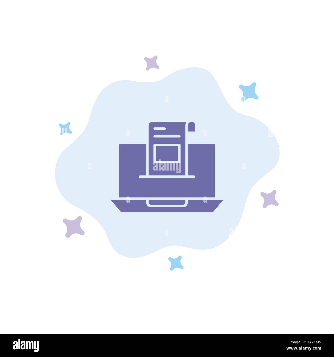 Email, Communication, Emails, Envelope, Letter, Mail, Message Blue Icon on Abstract Cloud Background - Stock Image