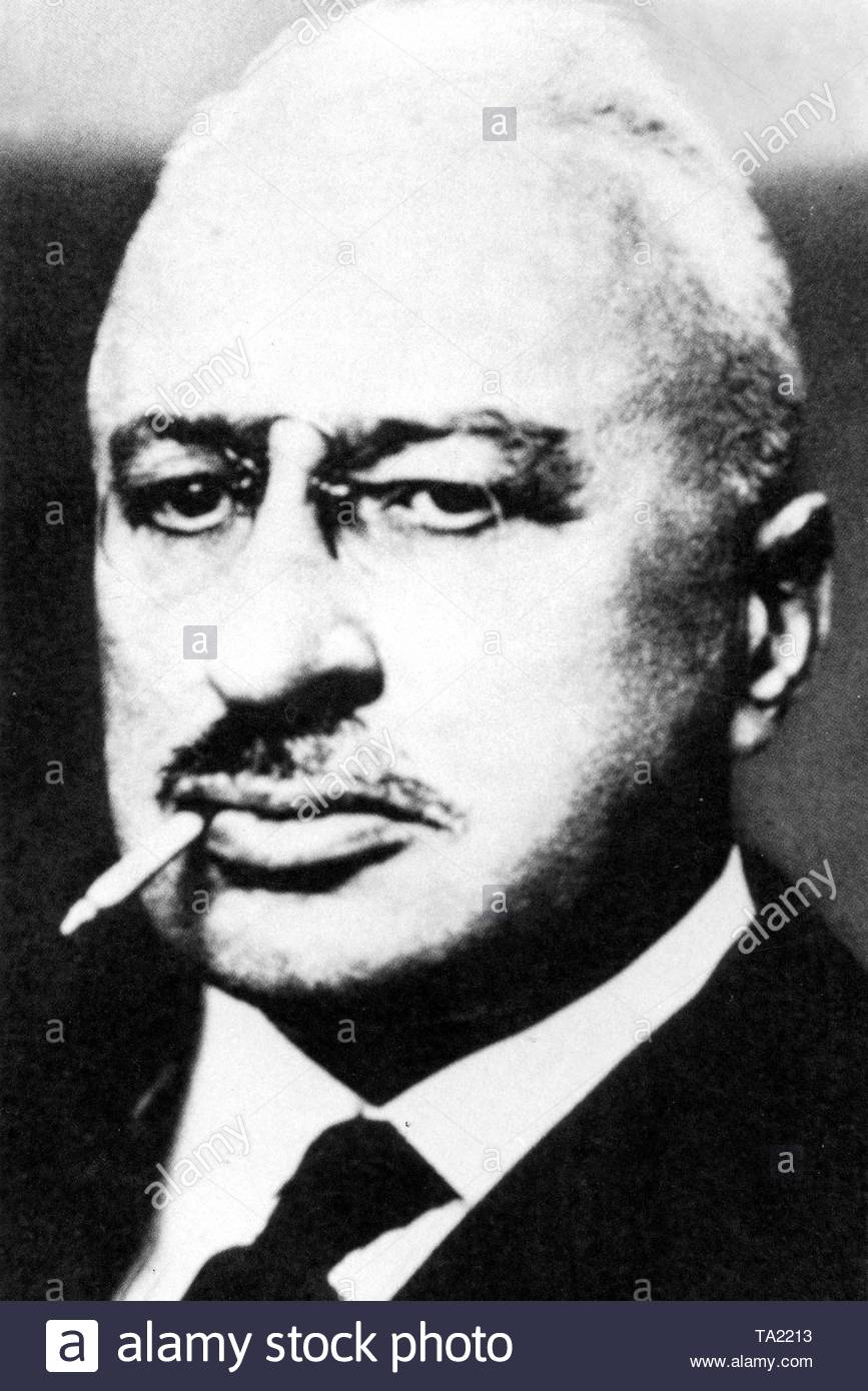 Theodor Wolff, writer and publicist (born 02.08.1868, + 23.09.1943), portrait from 1933, co-founder of the Freie Buehne (Free Stage) Berlin (1889) and between 1906-33 editor-in-chief of the 'Berliner Tageblatt'. - Stock Image