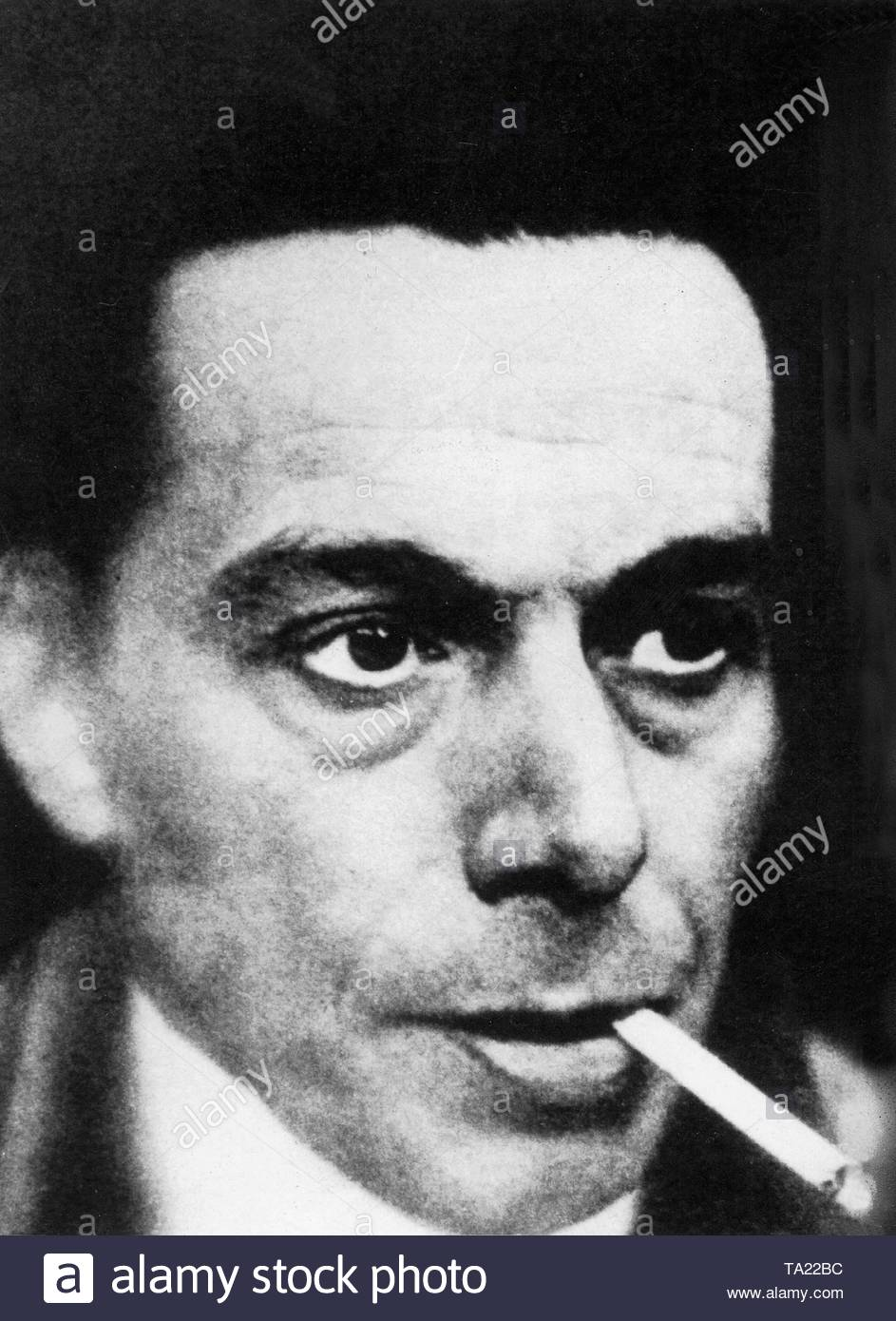 Ernst Ludwig Kirchner. Painter and graphic artist and pioneer of German Expressionism. - Stock Image